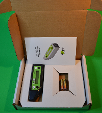 Content of the box: atLEAF CHL STD chlorohyll meter, batteries, user manual